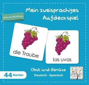 Mein zweisprachiges Aufdeckspiel, Obst und Gemüse Deutsch-Spanis