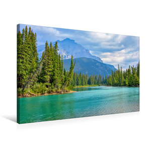 Premium Textil-Leinwand 75 cm x 50 cm quer Bow River bei Banff