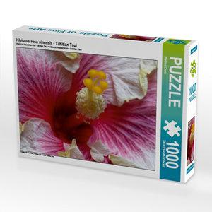 Hibiscus rosa sinensis - Tahitian Taui 1000 Teile Puzzle quer