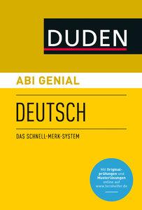 Abi genial Deutsch. Das Schnell-Merk-System (SMS). Buch mit Onli