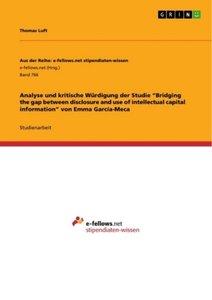 """Analyse und kritische Würdigung der Studie """"Bridging the gap bet"""