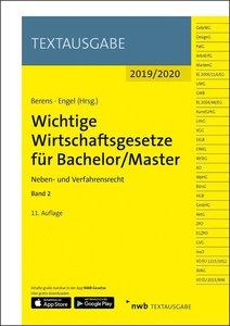 Wichtige Wirtschaftsgesetze für Bachelor/Master, Band 2, mit 1 B