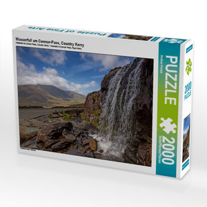 CALVENDO Puzzle Wasserfall am Connor-Pass, Country Kerry 2000 Te