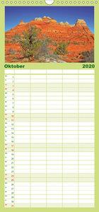 Rote Felsen des Südwestens - Familienplaner hoch (Wandkalender 2