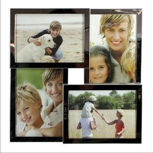 Fotorahmen Edelstahl/ Rahmen glänzend, für 4 Fotos