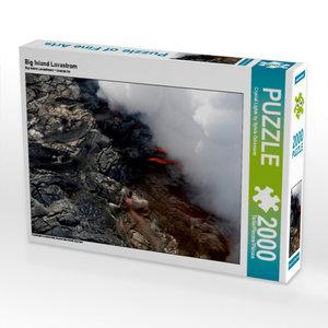 Big Island Lavastrom 2000 Teile Puzzle quer