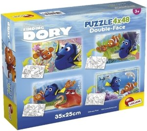 Finding Dory (Kinderpuzzle), Double-Face 4 x 48