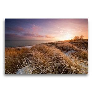 Premium Textil-Leinwand 75 cm x 50 cm quer Winterlicht