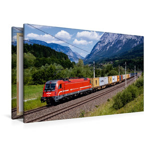 Premium Textil-Leinwand 120 cm x 80 cm quer Slowenien meets Pong