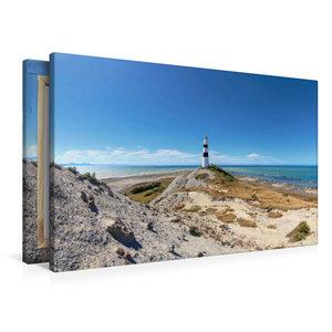 Premium Textil-Leinwand 90 cm x 60 cm quer Cape Campbell Lightho