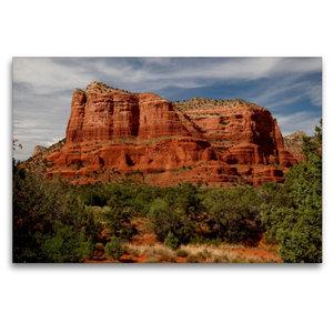 Premium Textil-Leinwand 120 cm x 80 cm quer Sedona - Red Rocks