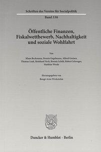 Öffentliche Finanzen, Fiskalwettbewerb, Nachhaltigkeit und sozia