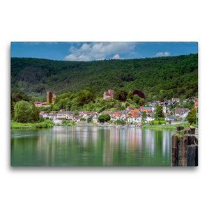 Premium Textil-Leinwand 75 cm x 50 cm quer Neckarsteinach - Die