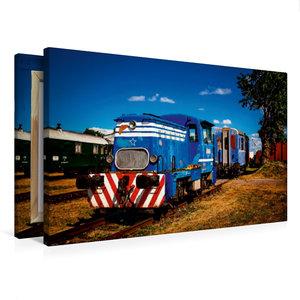 Premium Textil-Leinwand 75 cm x 50 cm quer Lokomotive T 211.0823