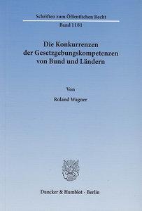 Die Konkurrenzen der Gesetzgebungskompetenzen von Bund und Lände