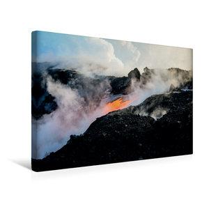 Premium Textil-Leinwand 45 cm x 30 cm quer Lava erreicht den Paz