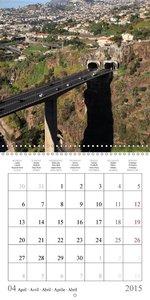 MADEIRA roads and trails (Wall Calendar 2015 300 × 300 mm Square