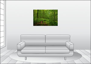 Premium Textil-Leinwand 90 cm x 60 cm quer Das Grüne Band ganz g
