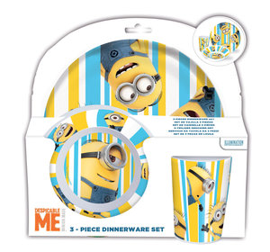 Minions 3tlg. Melaminset in offener Geschenkverpackung