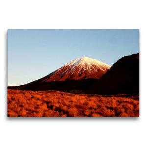 Premium Textil-Leinwand 75 cm x 50 cm quer Mount Ngauruhoe im Ab