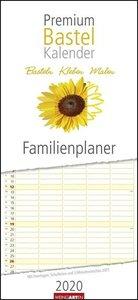 Bastelkalender Familienplaner Premium 22 x 48 cm Kalender 2020