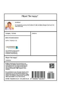 """Flipart """"Be happy"""" (Stand-Up Mini Poster DIN A5 Portrait)"""