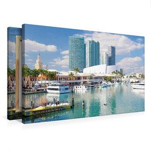 Premium Textil-Leinwand 75 cm x 50 cm quer Miami