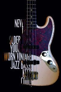 Premium Textil-Leinwand 30 cm x 45 cm hoch Jazz Bass, Road Worn