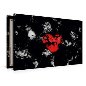 Premium Textil-Leinwand 120 cm x 80 cm quer Auf Rosen gebettet.