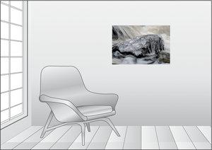 Premium Textil-Leinwand 75 cm x 50 cm quer Eiskristalle