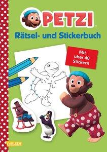Petzi: Rätsel- und Stickerbuch