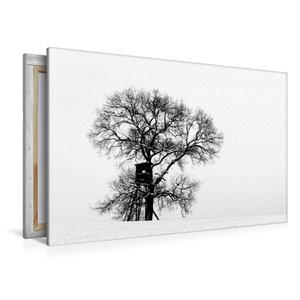 Premium Textil-Leinwand 120 cm x 80 cm quer Winterfarben