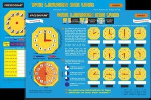 PRESSOGRAM Zaubertafel - Wir lernen die Uhr