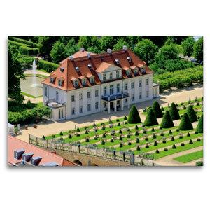 Premium Textil-Leinwand 120 cm x 80 cm quer Schloss Wackerbarth