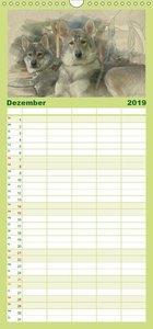 Schlittenhunde 2019 - Familienplaner hoch (Wandkalender 2019 , 2