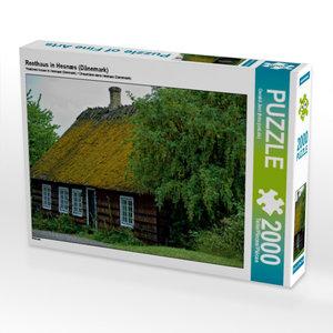 Reethaus in Hesnæs (Dänemark) 2000 Teile Puzzle quer