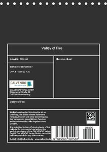 Valley of Fire (Tischkalender immerwährend DIN A5 hoch)