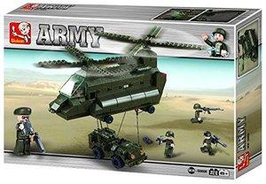 Sluban ARMY M38-B6600 - Transporthubschrauber 1, 370 Teile