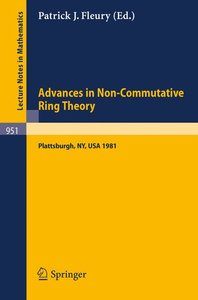 Advances in Non-Commutative Ring Theory