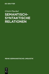 Semantisch-syntaktische Relationen