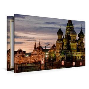 Premium Textil-Leinwand 120 cm x 80 cm quer Basilius Kathedrale,