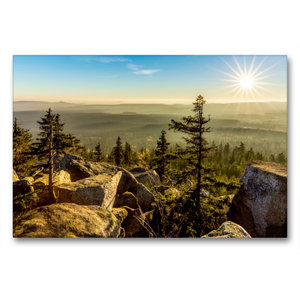 Premium Textil-Leinwand 90 cm x 60 cm quer Herbststimmung auf de