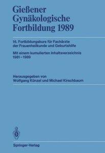 Gießener Gynäkologische Fortbildung 1989