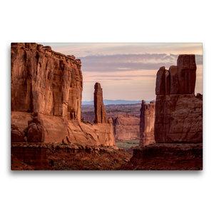 Premium Textil-Leinwand 75 cm x 50 cm quer Arches National Park,