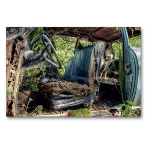 Premium Textil-Leinwand 90 cm x 60 cm quer Rostlaube - Opel Kade