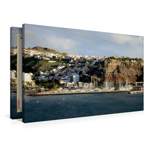 Premium Textil-Leinwand 90 cm x 60 cm quer Gomera - San Sebastia