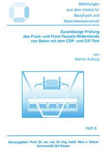 Zuverlässige Prüfung des Frost- und Frost-Tausalz-Widerstands vo