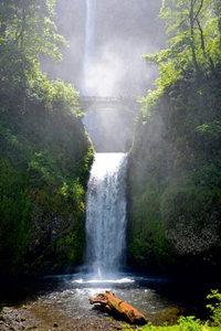 Premium Textil-Leinwand 60 cm x 90 cm hoch Waterfall California