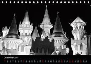 Las Vegas - Schwarzweiß (Tischkalender 2019 DIN A5 quer)