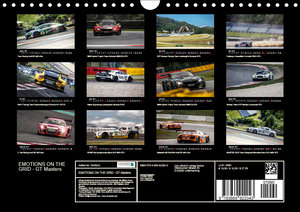 EMOTIONS ON THE GRID - GT Masters (Wandkalender 2019 DIN A4 quer